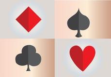 看板卡冲洗打皇家的扑克 库存例证