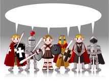 看板卡动画片骑士 免版税库存图片