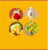 看板卡动画片货币 库存图片