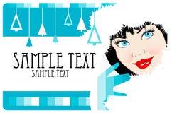 看板卡向量妇女xmas 免版税库存图片