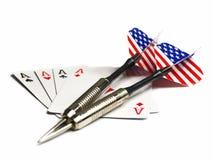看板卡和国家抽奖 免版税库存照片