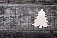 看板卡圣诞树向量 免版税图库摄影
