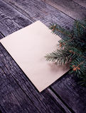 看板卡圣诞树向量 免版税库存照片