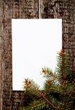 看板卡圣诞树向量 免版税库存图片