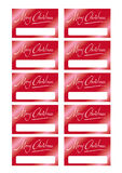 看板卡圣诞树 免版税库存图片