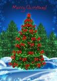 看板卡圣诞树 免版税图库摄影