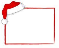 看板卡圣诞老人 免版税库存图片