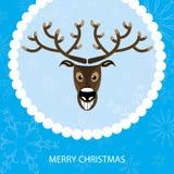 看板卡圣诞节例证驯鹿向量 免版税库存照片