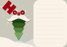 看板卡圣诞节例证结构树 免版税库存照片