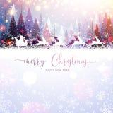 看板卡圣诞节克劳斯编辑可能的eps充分的圣诞老人 库存例证