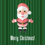 看板卡圣诞节克劳斯编辑可能的eps充分的圣诞老人 免版税库存图片