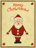 看板卡圣诞节快活的圣诞老人 免版税库存图片