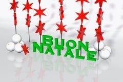 看板卡圣诞节意大利语 免版税库存照片