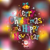 看板卡圣诞节招呼的愉快的快活的新&# 免版税图库摄影