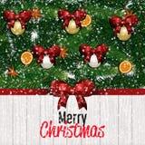 看板卡圣诞节招呼的愉快的快活的新&# 库存照片
