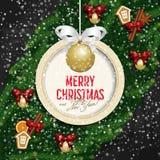 看板卡圣诞节招呼的愉快的快活的新&# 免版税库存图片