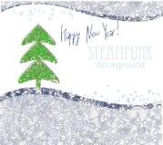 看板卡圣诞节招呼的新年度 免版税库存图片