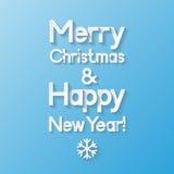 看板卡圣诞节招呼的新年度 免版税库存照片