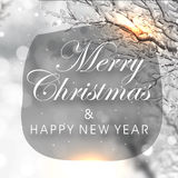 看板卡圣诞节招呼的新年度 库存照片