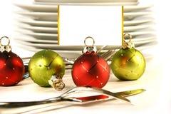 看板卡圣诞节持有人安排 免版税库存照片