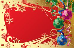 看板卡圣诞节新的s年 库存例证