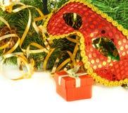 看板卡圣诞节毛皮屏蔽新的s结构树年 图库摄影