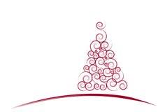 看板卡圣诞节红色结构树 免版税库存图片