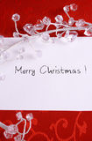 看板卡圣诞节红色 免版税库存照片
