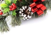 看板卡圣诞节绿叶 免版税库存图片