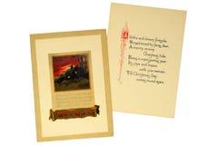 看板卡圣诞节葡萄酒 免版税库存图片