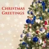看板卡圣诞节问候在上写字快活 库存图片