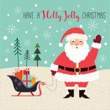 看板卡圣诞节问候在上写字快活 库存照片