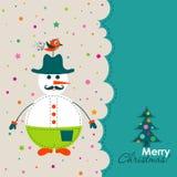 看板卡圣诞节问候模板向量 免版税库存图片