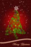看板卡圣诞节问候结构树 库存照片