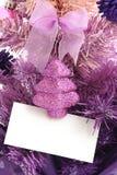 看板卡圣诞节问候结构树 免版税库存图片