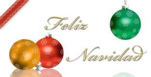 看板卡圣诞节问候西班牙语 图库摄影