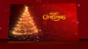 看板卡圣诞节问候 与snow.vector的圣诞节背景 背景蓝色雪花白色冬天 皇族释放例证