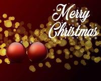 看板卡圣诞节问候 圣诞快乐字法,传染媒介例证 库存图片