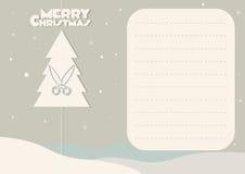 看板卡圣诞节问候结构树 库存图片