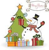 看板卡圣诞节问候 向量例证