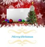 看板卡圣诞节问候 免版税库存照片