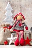 看板卡圣诞节问候 Noel地精背景 圣诞节标志 免版税图库摄影