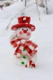 看板卡圣诞节雪人 库存照片
