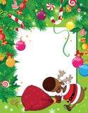 看板卡圣诞节鹿 库存例证
