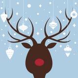 看板卡圣诞节麋 免版税库存照片