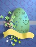 看板卡复活节彩蛋问候 库存照片