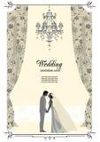 看板卡婚礼 免版税库存照片