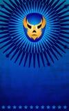 看板卡屏蔽墨西哥海报模板摔跤手 免版税库存图片