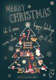 看板卡快活圣诞节的问候 免版税图库摄影