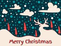 看板卡快活圣诞节的问候 库存例证